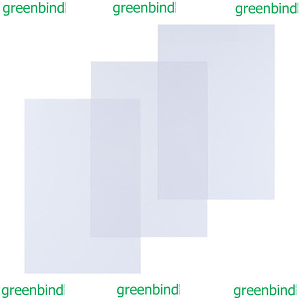 greenbind Deckblätter transparent Satin