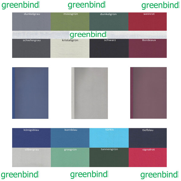 greenbind® DE Thermocover Leather 315 Gramm Satinfolie (Made in  Germany)