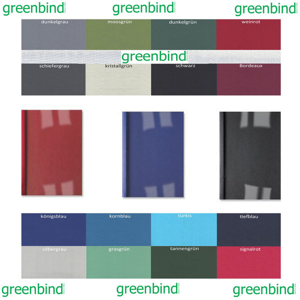 greenbind® DE Thermocover Leather 315 Gramm Klarfolie (Made in Germany)