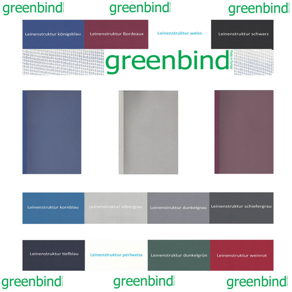 greenbind® DE Thermocover Castor 285 Gramm Satinfolie (Made in Germany)