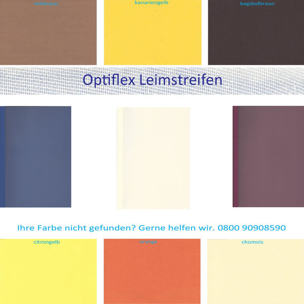 OptiPlus Thermo- Bindemappen, Satin- Folie SONDERFARBEN