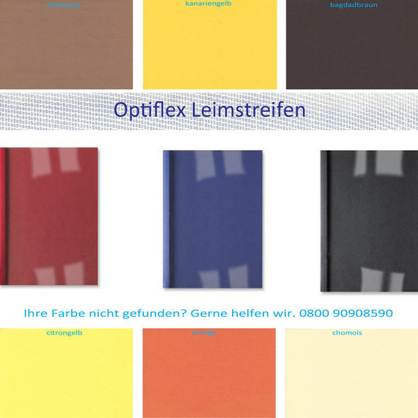 OptiPlus Thermo- Bindemappen, Klar- Folie SONDERFARBEN
